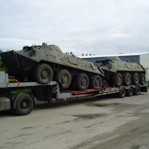 перевозка военной техники танков, бтр